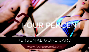 Four Percent Challenge Review - Goal card 1