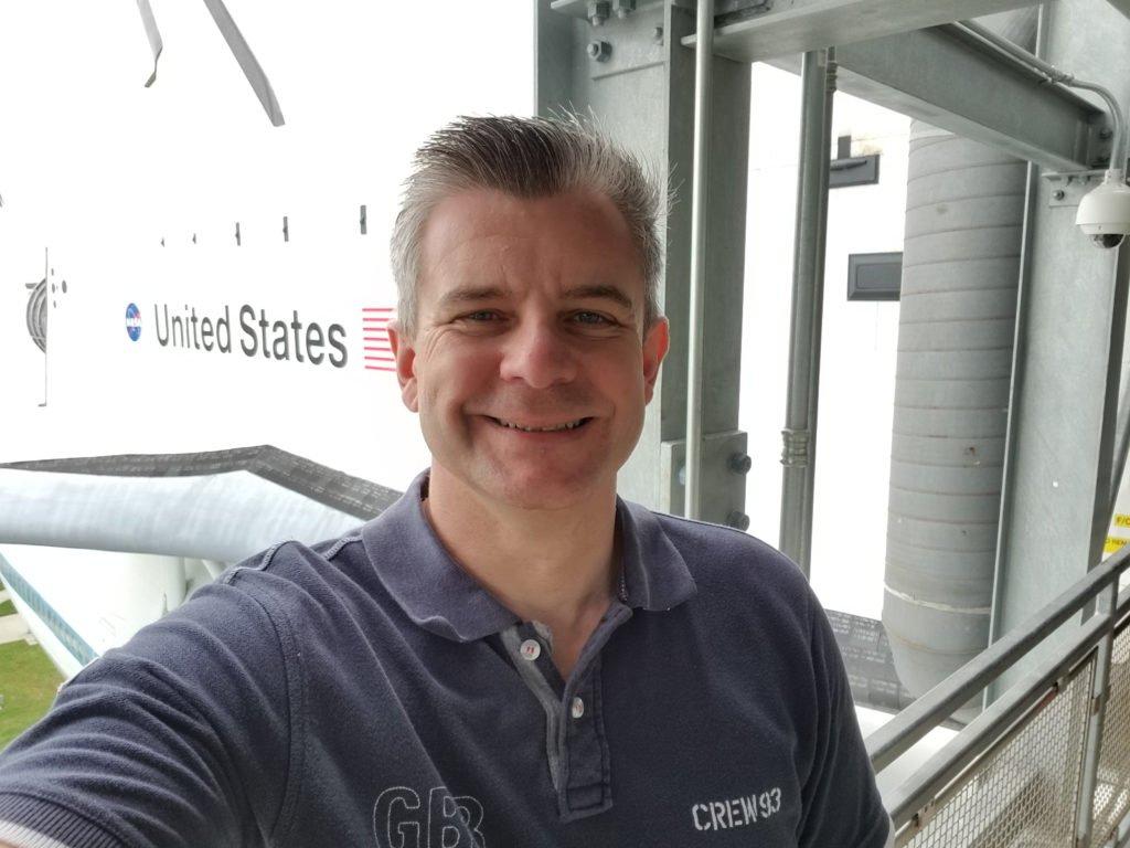Nigel Yates at the Johnson Space Centre, Houston, Texas